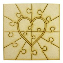 Wooden Puzzle Photo Frame (Heart) fits Ribba Frame